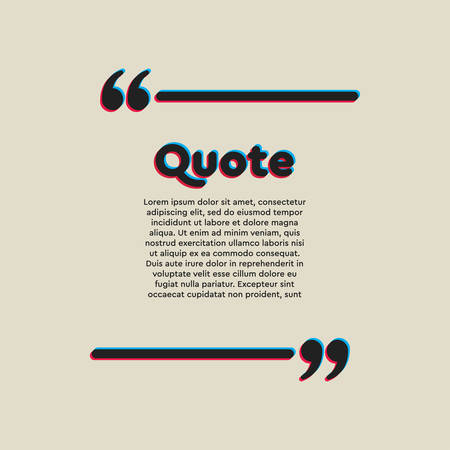 Vector template blank square lines bubble. Speech box with bracket. Empty frame for messages. Business card template information text message. Quote text form. Background for motivation inspiration.