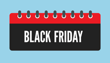 Vector icon calendar day - Black Friday - big sale. Concept flat style for your business, marketing, promo, website. Vector element for card, flyer, poster, coupon, sticker.