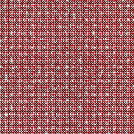 Red sequins, glitters, sparkles, paillettes, mosaic background template. Abstract luxury halftone vector creative backdrop. Glitter rounds gradient trendy. Vibrant red shiny dots glitter texture.
