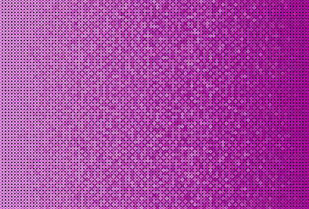 Pink sequins, glitters, sparkles, paillettes, mosaic background template. Abstract luxury halftone vector creative backdrop. Glitter rounds gradient trendy. Vibrant pink shiny dots glitter texture. Ilustracja