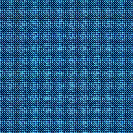 Blue sequins, glitters, sparkles, paillettes, mosaic square background template. Abstract halftone vector creative backdrop. Glitter rounds gradient trendy. Vibrant blue shiny dots glitter texture. Ilustracja