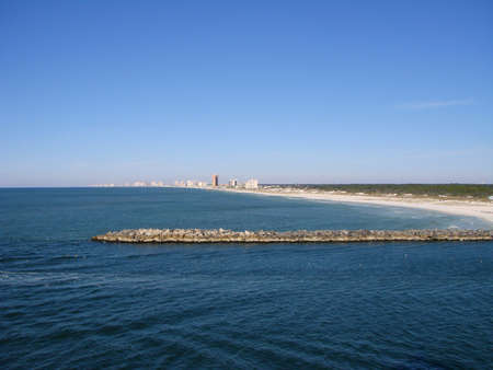 panama city beach: Veduta del Golfo del Messico e Panama City Beach costa  Archivio Fotografico