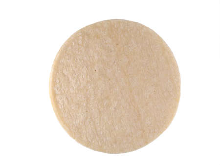 tortilla de maiz: Single White plana tortilla de ma�z
