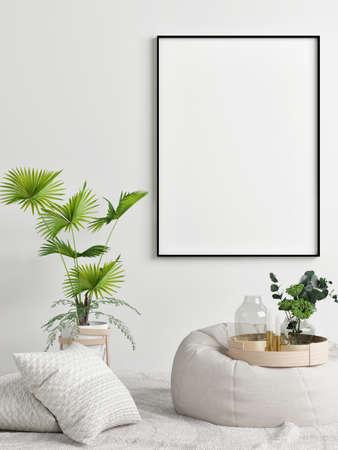 Mockup poster with decoration for product presentation, 3d illustration Banque d'images - 159149289