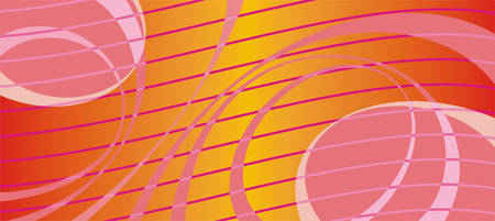asymmetrical: Horizontal abstract asymmetrical bright red background with waves and bands Illustration
