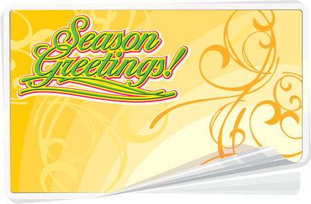 season       greetings: Season Greetings Summer Background with floral ornament