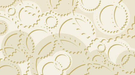 sprocket: Horizontal abstract light gray background in technical style with gear and cogwheels Illustration