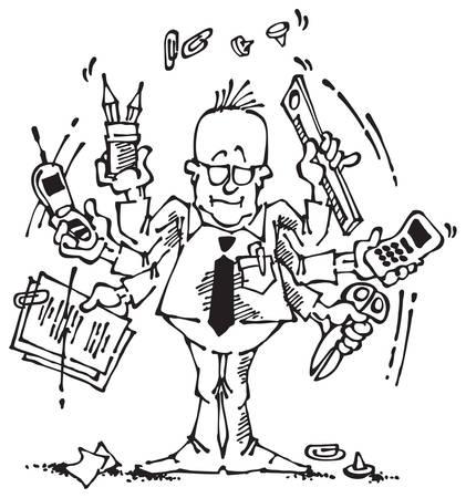 bureaucrat: Businessman and office clerk at work
