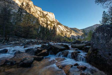 national parks: Rushing Stream in Yosemite National Parks Mirror Lake