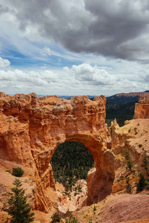 rock arch: Red Rock Arch at Bryce Canyon Stock Photo