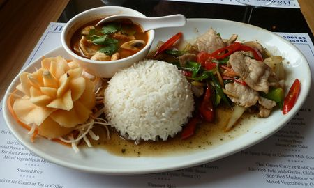 An exotic Thai meal for one photo