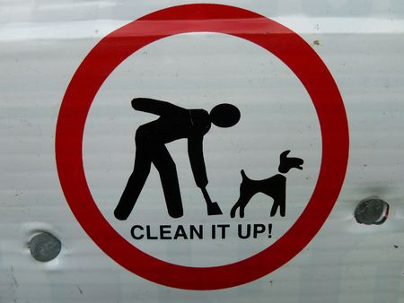 shit: Cleaning up after your dog Stock Photo