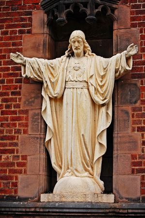 Statue of jesus christ with arms outstretched Stock Photo - 7441813