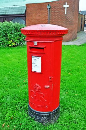 Old traditional British post box photo