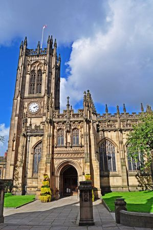 Manchester Cathedral - England Stock Photo