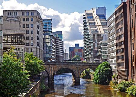 lancashire: Manchester city centre skyline (old & new)