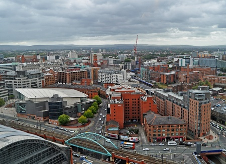 town centre: Manchester - UK - Panorama
