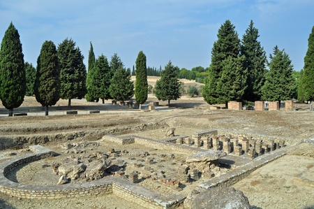 The Roman ruins of Italica near Seville in Southern Spain