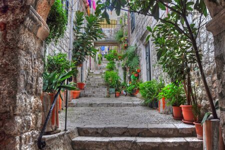 evocative: A typical Croatian street