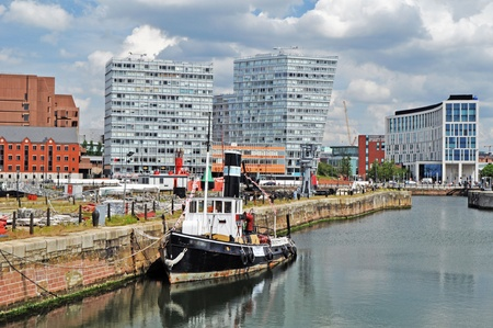 A Liverpool Panorama with tugboat