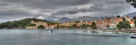 evocative: Clouds over Cavtat Croatia