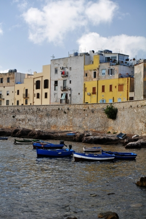 Trapani _ The old Quarter with boats