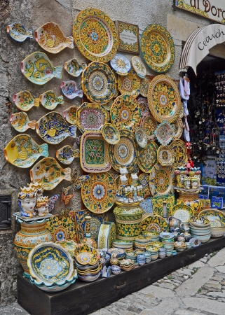 Local arts, crafts ans souvenirs in Sicily Editorial