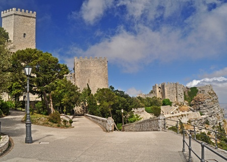 The historical town of Erice , Sicily Editorial