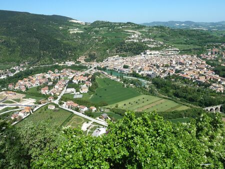 evocative: A panorama of Fossombrone In the Le Marche region of Italy