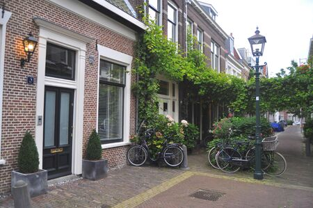 A typical street In Haarlem holland