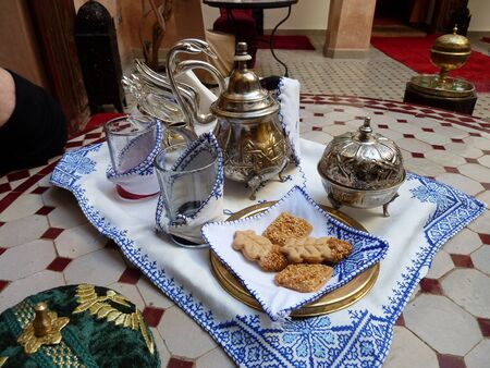 evocative: Tea for two Moroccan style.