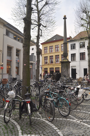 evocative: Bicycles - Bruges Belgium
