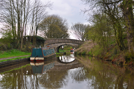 A typical British, rural canal scene