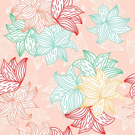 Seamless floral patterns. Vector design illustration. Patterns for stationery, package design, background,wallpaper, textile, web texture. Scrap booking paper.