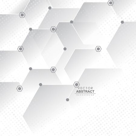 Abstract vector background. Abstract geometrical background with hexagon pattern elements.