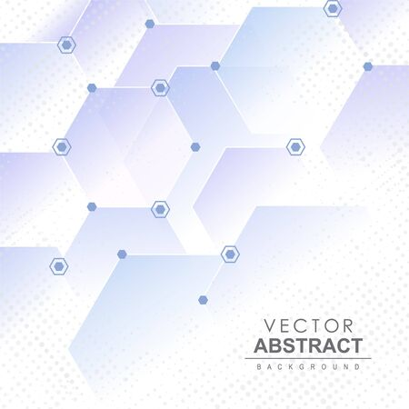 Abstracte vectorachtergrond. Abstracte geometrische achtergrond met zeshoek patroonelementen. Vector Illustratie