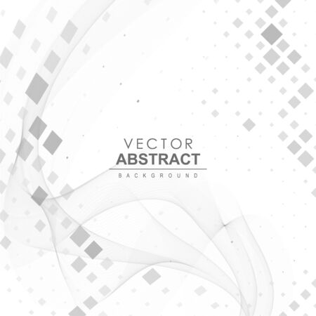 Abstract vector background. Vector dynamic illustration with waves and shapes. Ilustração