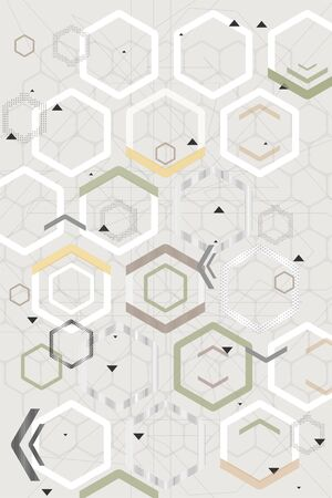 Abstract geometric background. Hexagonal pattern. Technology design.
