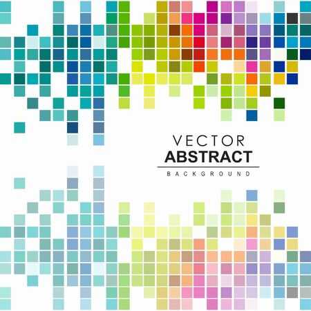 Abstract vector background. Vector rainbow tiles. Vector dynamic illustration. Base for website, print, banners, wallpapers, business cards, brochure, calendar.