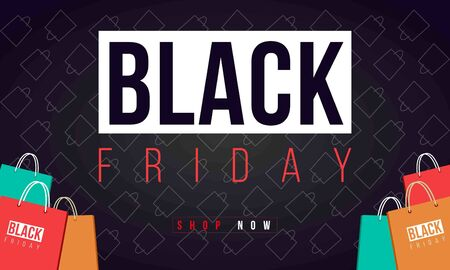Black Friday Sale banners. Discount background template. Black Friday's advertisement. Promotion of Black Friday. Ilustração
