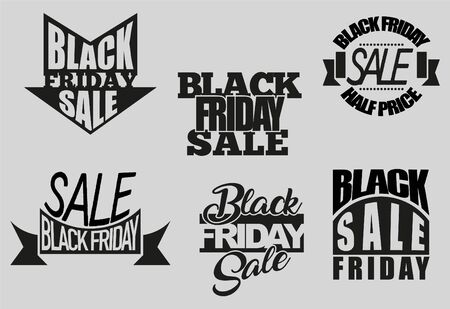 Black Friday Sale sale tags. Discount background template. Black Friday's advertisement. Promotion of Black Friday.
