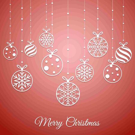 Winter season greeting cards. Merry Christmas. Christmas greetings card. Vector illustration Vettoriali