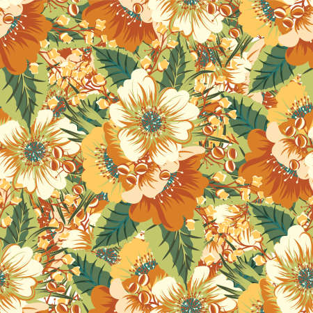 Seamless floral baroque patterns. Vector design illustration. Patterns for stationery, package design, background, wallpaper, textile, web texture. Scrap booking paper. Foto de archivo - 153566689