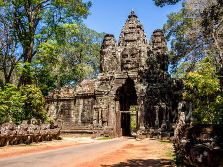 Ancient buddhist khmer temple in Angkor Wat, Cambodia
