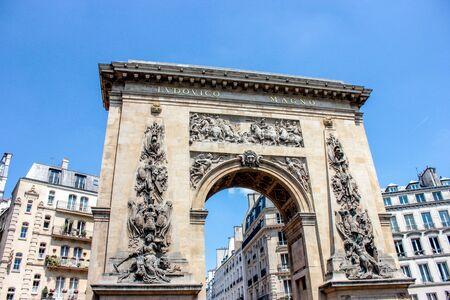Ancien arc triomphal à Paris Banque d'images - 21007581