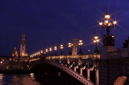 Old bridge over the Seine in Paris