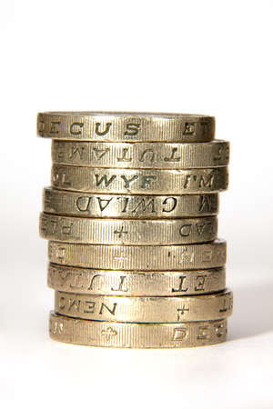 coin stack: Stack of Pound Coins