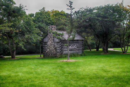 An old log cabin in milwaukee