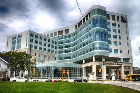 Hospital Columbia St. Mary en Milwaukee Foto de archivo - 44424204