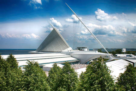 royalty free stock photos: Milwaukee art Museum